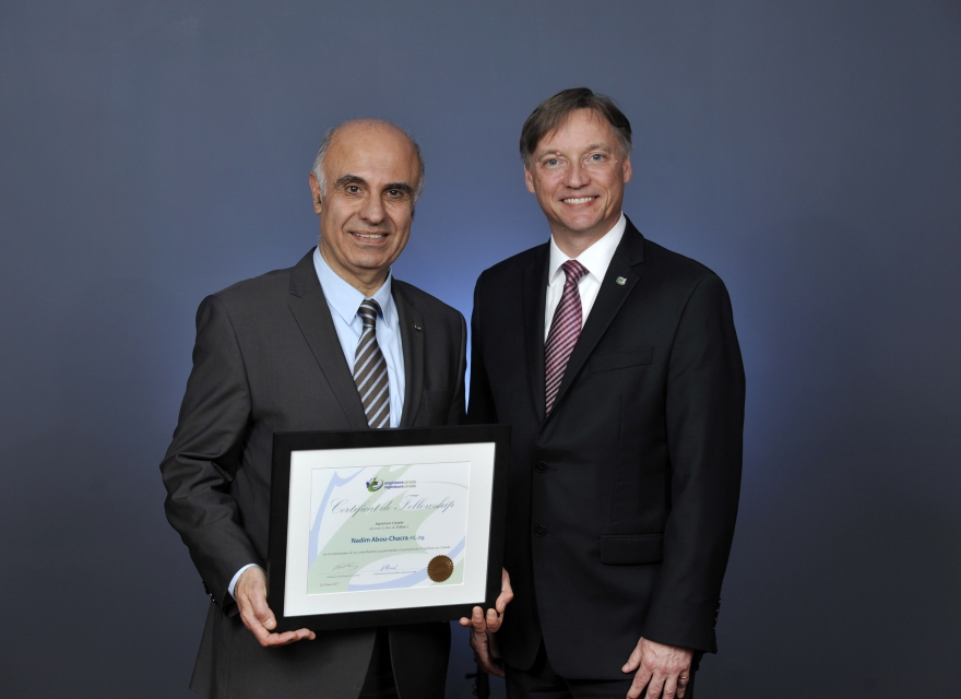 Nadim Abou-Chacra, Fellow of Engineers Canada