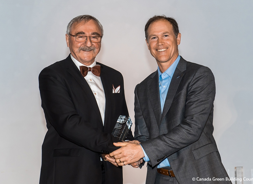 Roland Charneux Receives CaGBC's Green Building Pioneer Award
