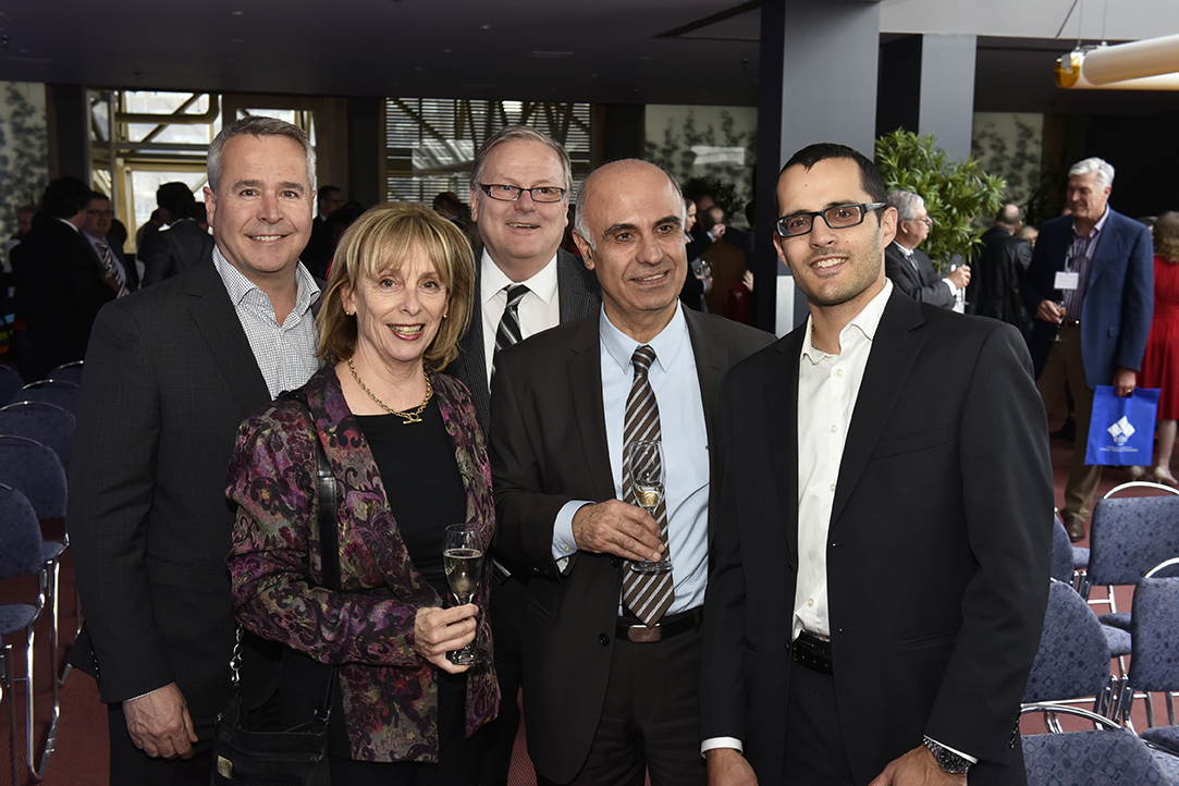 Pageau Morel team from left to right: Jacques De Grâce, Eng., Executive Vice-President; Nicole Vachon, CPA, CA, Vice-President | Finance; Claude Giguère, Eng., Vice-President; Nadim Abou-Chacra, Eng., Project Manager; Pierre-Luc Baril, Eng., Vice-President